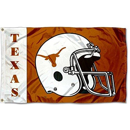 (Texas UT Longhorns Large Football Helmet 3x5 College Flag)