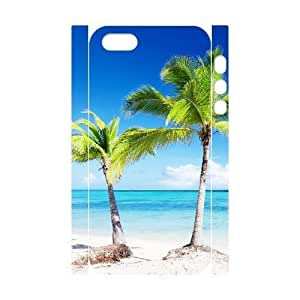 3D Bumper Plastic Customized Case Of Island Beach for iPhone 5,5S