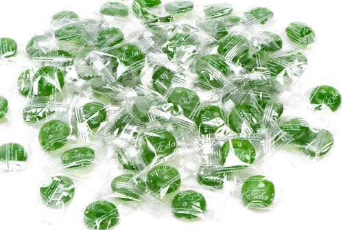 Eda's Sugar Free Green Apple Hard Candy, individually wrapped, OU Parve, Uses Sorbitol, Low Sodium, Sold by the (Apple Chocolate Sugar)