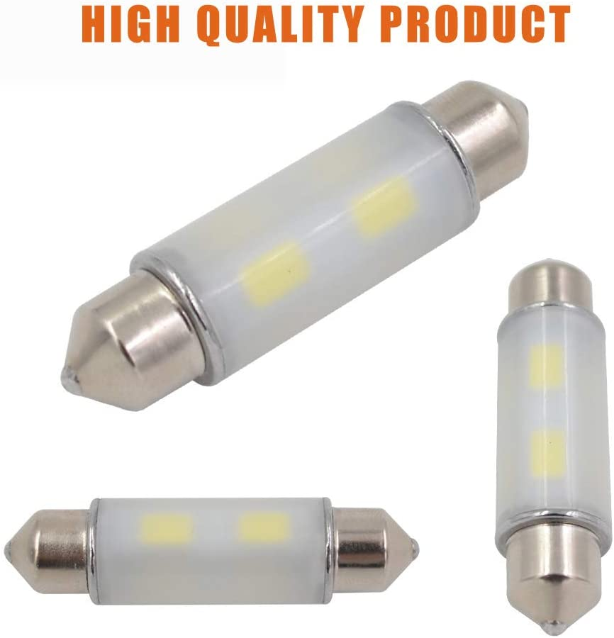 41mm 42mm Pack of 2 LED Dome Festoon Map light Fit for 578 569 211-2 212-2 Canbus Error Free 12V 24V with SAMSUNG-5630 Chipset LED Bulb Ice Blue 1.72