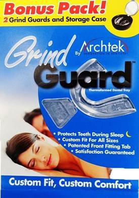 2 for 1 Bonus Pack! Grind Guard - Relieves Symptoms Associated with Teeth Grinding, Colors may Vary by Archtek