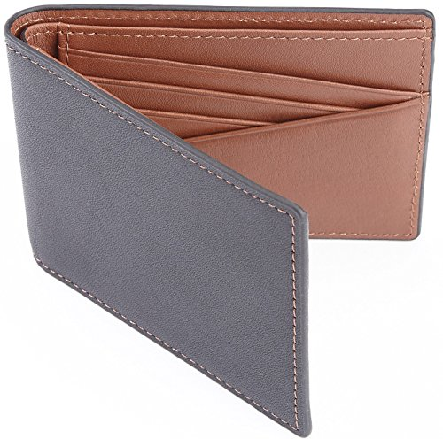 Royce Leather Men's 100 Step Slim Bifold Wallet Leather, Rfid Blocking Technology, Tan by Royce Leather