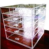 Cq acrylic Kardashian Large Beauty Cube 5 Tier Drawers Acrylic Cosmetic ...