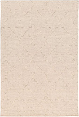 RugPal Solid/Striped Rectangle Area Rug 2'x3' in Oatmeal Color From Apple Collection