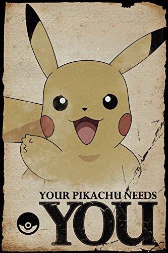 Pokemon-Pikachu-Te-Necesita-Pster-91-x-61cm
