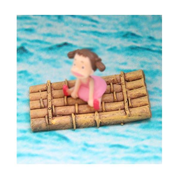 3X milopon decorazione Micro Paesaggio Mini Giardino In Miniatura bambù Boot in resina per casa delle bambole Mobili per casa delle bambole Mobili da giardino arredamento giardino 3 spesavip