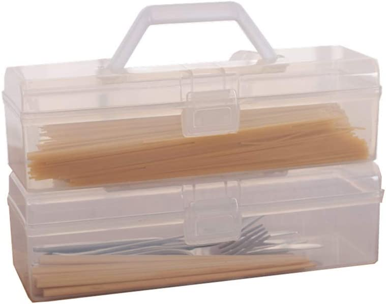 ChenLee Set of 4 Rectangular Pasta Storage Containers Airtight Waterproof Spaghetti Noddles Plastic Storage Box with Locking Lids for Foods Cutlery Tableware
