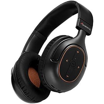 Bluetooth Headphones, Alpatronix HX101 Universal HD Noise Isolating Wireless Stereo Headset with Built-in Mic, Volume/Playback Controls, AptX, CVC 6.0, BT 4.1 [30+ Hrs. of Playback Time] - Black