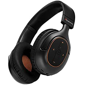 Bluetooth Headphones, Alpatronix [HX101] Universal HD Noise Isolating Wireless Stereo Headset with Built-in Mic, Volume/Playback Controls, AptX, CVC 6.0, BT 4.1 [30+ Hrs. of Playback Time] - (Black)