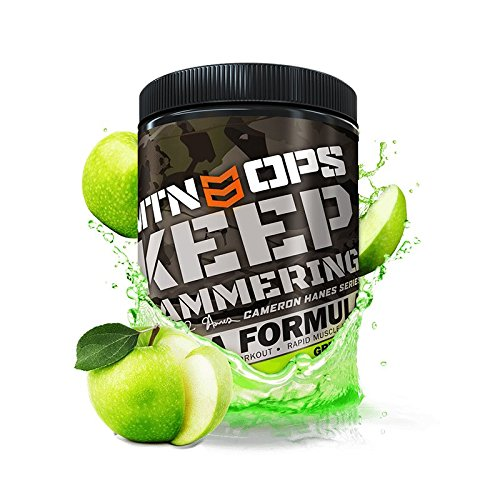 s Keep Hammering Bcaa 2:1:1 Workout and Recovery Drink Mix, Green Apple Flavor, 30 Servings per Container ()