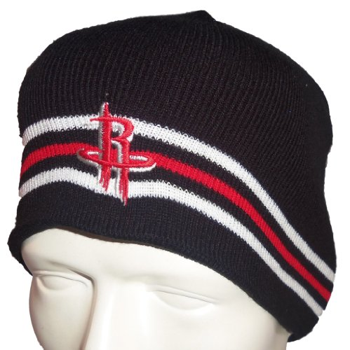 Three Stripe Beanie (Houston Rockets NBA Licensed Adidas Black 3 Stripe Knit Beanie)
