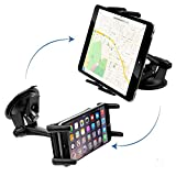 """Car Mount, Premium Universal Car Dash Mount / Windshield Mount for Samsung Galaxy S8 S7 S6 S5 Edge / Motorola Droid Turbo Moto X G Z Force G4 G5 Plus All 4-6"""" Displays (use with or without case)"""
