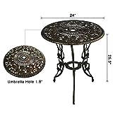 HOMEFUN Bistro Table Set, Antique Bronze Rose 3