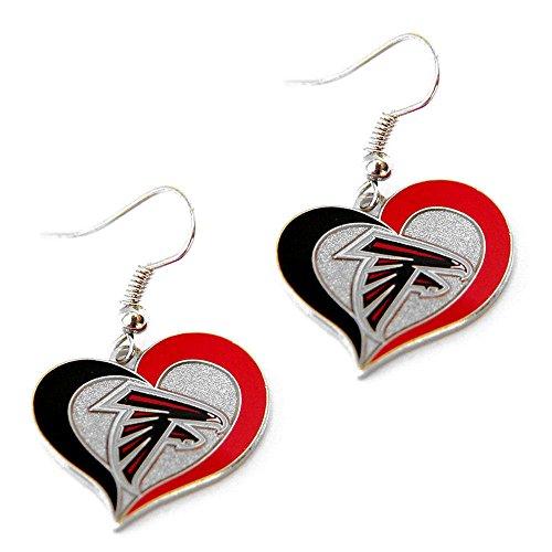 Falcon Logo Charm - aminco Atlanta Falcons Swirl Heart Earring Dangle Logo Charm Gift