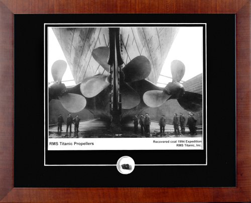 Century Collection Titanic Propellers Autographed Framed Photograph with Coal Relic by Century Collection
