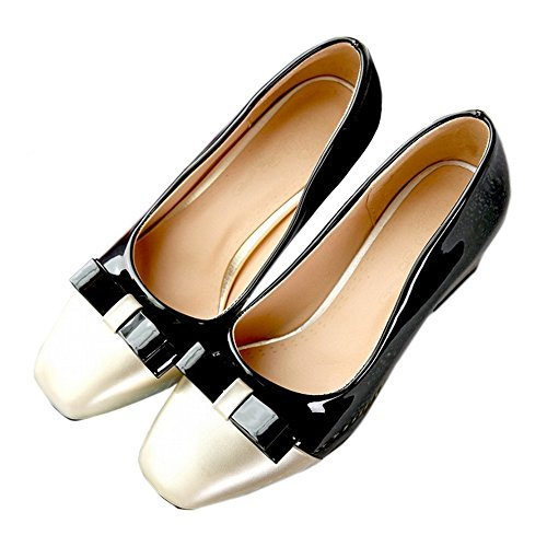 black Shoes Color Last Small Square Fashionable Chromatic twYgXUq