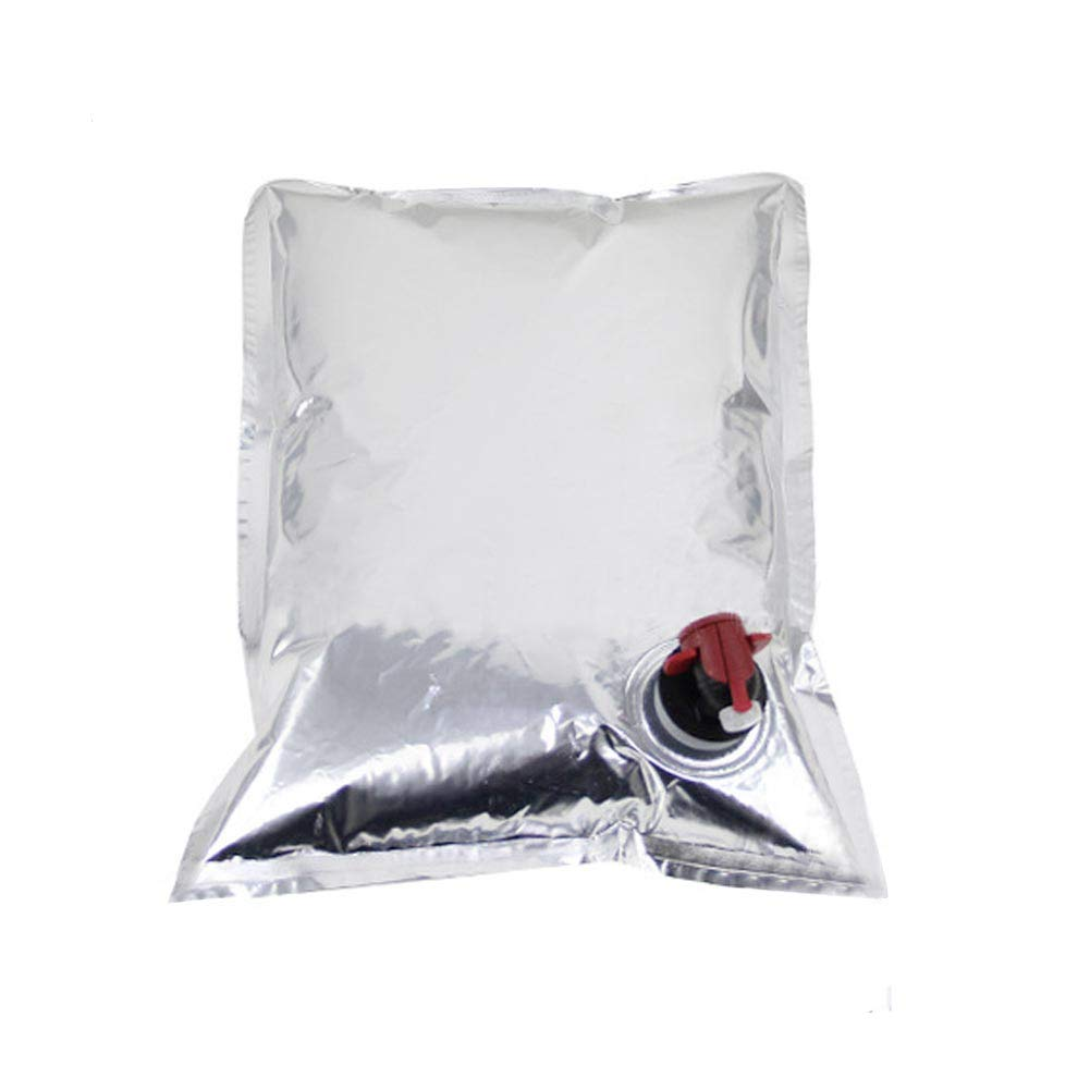 3 Packs Beverage Bag with Spout Dispenser 0.5Gallon/2L Wine Purse Refill Bags Drink Baggies Cooler Water Storage Bags by CONIE