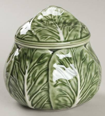 Bordallo Pinheiro Cabbage-Green Sugar Bowl u0026 Lid Fine China Dinnerware & Amazon.com | Bordallo Pinheiro Cabbage-Green Sugar Bowl u0026 Lid Fine ...