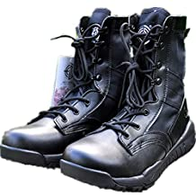 BE DREAMER Men's Lightweight 8 inches Leather Military Combat Boots