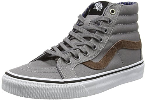 Frost Sk8 Gray White Plaid Leather Vans White Sneakers Unisex True Grey Premium Hi Top Cord Adults' Hi Reissue amp; True Eq4xaq1