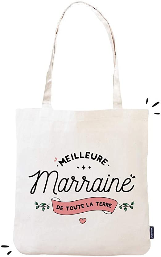 Totebag Marraine – Mejor marrina de toda la tierra   Manahia ...
