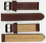 Invicta Genuine Unisex 20mm Brown Leather Watch Strap ISBR20, Watch Central