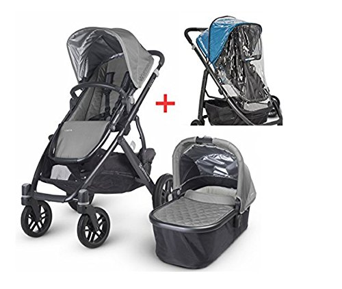 2015 Uppababy Vista Stroller Pascal Grey & Universal Stroller Console by UPPAbaby
