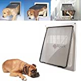 Cheap Extra Large 17″ x 14″ Pet Cat Dog Lockable Flap Door Gate w Telescoping Frame