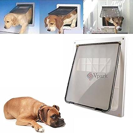 Extra Large  Pet Cat Dog Lockable Flap Door Gate W Telescoping