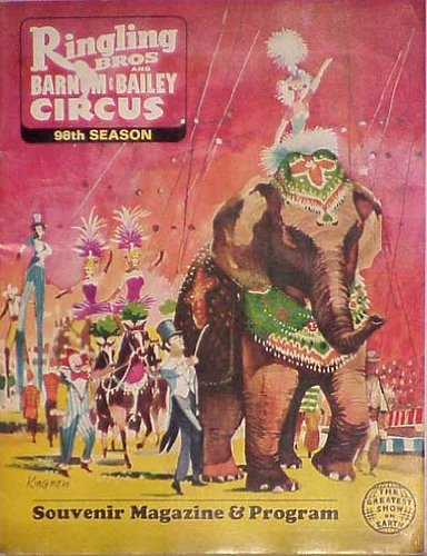 Ringling Brothers and Barnum & Bailey Circus -98th Edition - The Greatest Show on Earth. 1969 Souvenir Magazine & ()