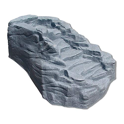 MRT SUPPLY Tranquility Outdoor Preformed Water Garden Pond Waterfall, Charcoalstone with Ebook