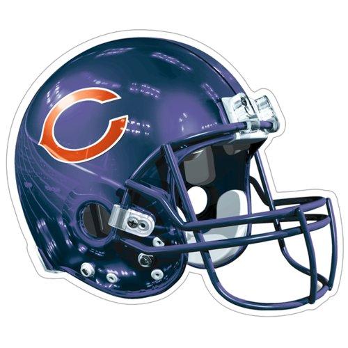 NFL Chicago Bears Logo Helmet Magnet (Pack of 1)