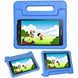 i-original Compatible Galaxy Tab A 8(T380/T385) Case Stand - Kids Toddlers Tablet Holder Cover Shockproof Protective Eva Foam Lightweight Carry Handle Case for Samsung Galaxy Tab A 8 Inch 2017 (Blue)