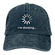 MANMESH HATT I'm Thinking Unisex Adult Vintage Washed Denim Adjustable Baseball Cap