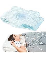 Elviros Cervikal ortopedisk kudde av minnesskum avtagbar ergonomisk nackstöd för nack- och axelsmärtor nackstödskudde för sidoslipare