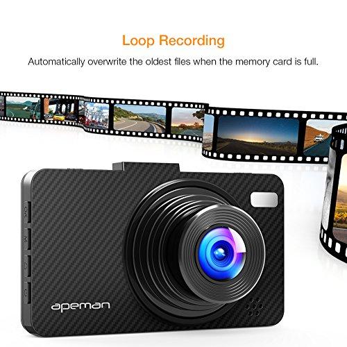 apeman 1080p dvr dash cam deals coupons reviews. Black Bedroom Furniture Sets. Home Design Ideas