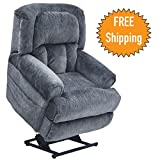 Catnapper Power Lift Full Lay-Out Recliner w/ Comfort Coil Seating & Dual Motor Comfort Function - Extra Wide Seating - Roll Arm & Horse Collar Back Treatment - Fashionable & Durable–400lb Capacity