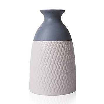 Hannahu0027s Cottage Geometrie Moderne Keramik Vase Kleine Blumenvase Tischvase  Blumen Pflanzen Vase Keramikvase Einfache Deko Garten