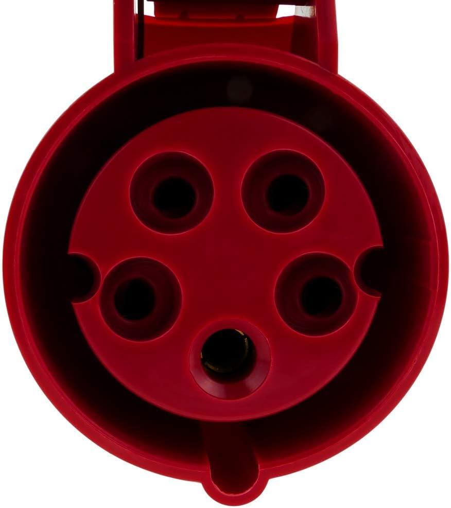 Prise industrielle CETAC femelle 3P+T+N 16A 380V IP44 IEC-60309 de surface BeMatik