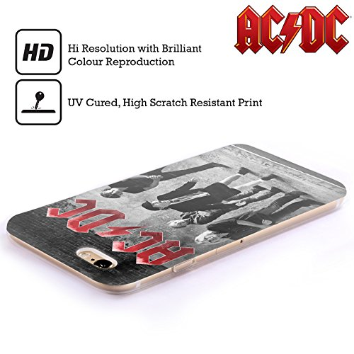 Officiel AC/DC ACDC Studio Noir Et Blanc Photo De Groupe Étui Coque en Gel molle pour Apple iPhone 5 / 5s / SE