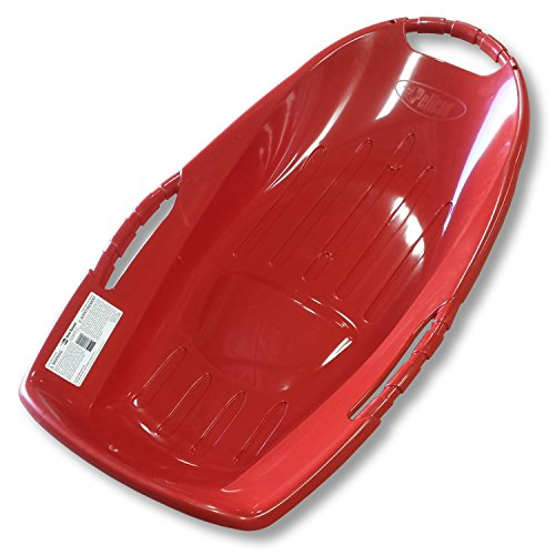 "Pelican Snow Runner 36"" Red Plastic Snow Sled with Bottom Grooves"