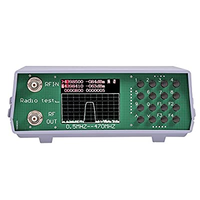 U/V UHF Vhf Dual Band RF Spectrum Analyzer 136-173MHz/400-470MHz Radio Spectrum Analyzer with Tracking Source