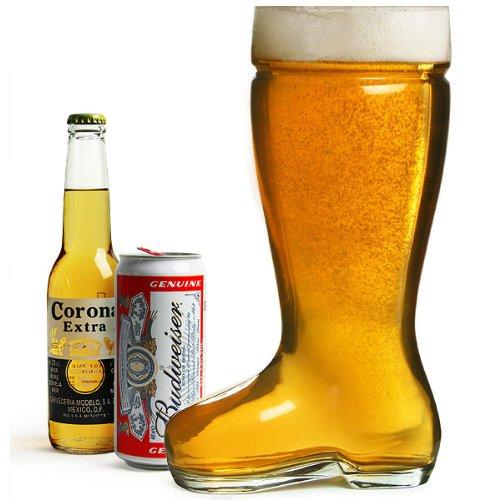 bar@drinkstuff Giant Glass Beer Boot 3.5 Pint/2 Litres Bierstiefel, Glass Beer Boot