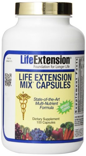 Life Extension Mix without Copper Capsules, 100 Count