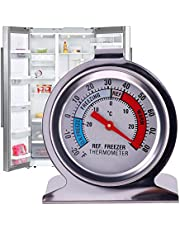 TR.OD Refrigerator Freezer Thermometer Fridge DIAL Type Stainless Steel Hang Stand