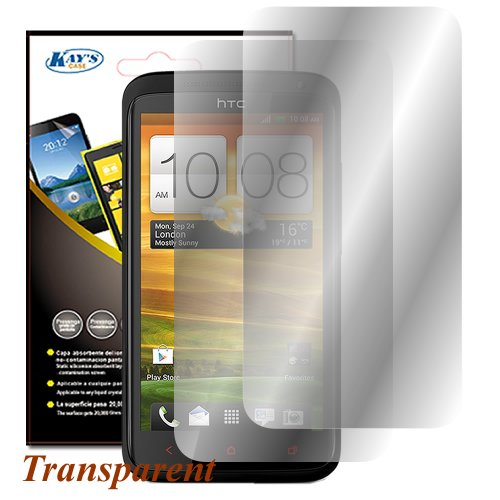 KAYSCASE Screen Protector for the HTC One M8 Smart Phone 2014 Version,2 Pack (Lifetime Warranty) (Invisible)