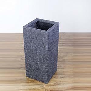JXSHQS Creative Fashion Umbrella Stand Storage Bucket Black Magnesite Mud Imitation Ceramic Household Rain Bucket Simple Umbrella Umbrella Stand (Size : S)
