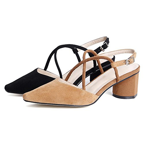 Tacón Tacón Alto Verano Zapatos GJDE con Tobillo Mujer Zapatos Correa Señalaron Sandalias Black los de de Grueso SStq7O