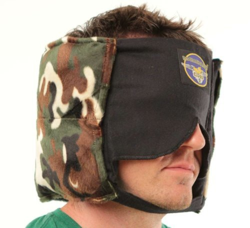 Camo Camping Buddy Sleep Mask Pillow for Men – Amazing, Patented, Sound Muffling Travel-Camping Pillow