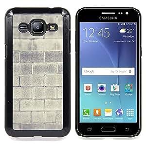 "Qstar Arte & diseño plástico duro Fundas Cover Cubre Hard Case Cover para Samsung Galaxy J2 / J200 (Pared de ladrillo gris Arquitectura Arquitectura Casa"")"